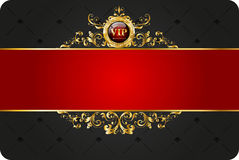 VIP card. With gold elements and brilliants Stock Image