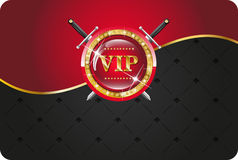 VIP card. With gold elements and brilliants Royalty Free Stock Image