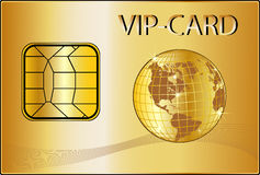 VIP Card with a golden Globe Royalty Free Stock Photography