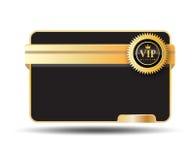 Vip Card Label. Balck and gold color Stock Photos