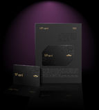 Vip card presentation (black) Royalty Free Stock Images