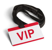 VIP Card. Red and White VIP ID Card  on White Background Stock Photography