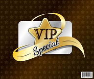 VIP card symbol design-vector file Royalty Free Stock Photo