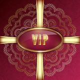 VIP card template Royalty Free Stock Image