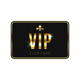 VIP card template, isolated on white background Royalty Free Stock Images