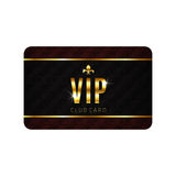 VIP card template Stock Images
