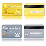 Vip cards. Vector credit cards, platinum and gold Stock Photo