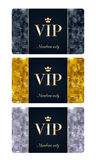 VIP cards with abstract background Stock Images