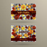 Vip cards with the abstract background Stock Images