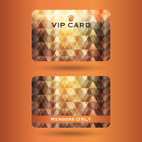 Vip cards with the abstract background Stock Photography