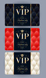 VIP cards with abstract quilted background. Royalty Free Stock Photography