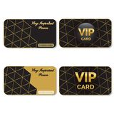 VIP Cards Black and Gold. On a white background. Vector illustration Royalty Free Stock Photos