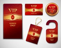 Vip cards design template Royalty Free Stock Photo