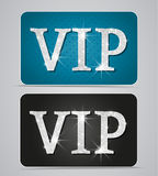 Vip cards. Silver two cards with text vip Royalty Free Stock Photo
