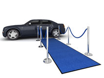 VIP carpet Limousine Illustration Royalty Free Stock Photo
