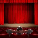 VIP che si siede nell'illustrazione del cinema 3d fotografia stock libera da diritti