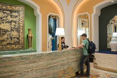 VIP Check-in At the Wynn Palace stock photo