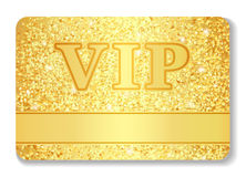 VIP club card composed from golden glitters Royalty Free Stock Photos