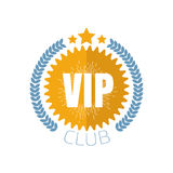 VIP club logo in flat style. Vector illustration Stock Photos