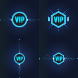 VIP club logos set. Vector illustration Royalty Free Stock Images