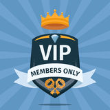 VIP Club members only vector background Stock Photo