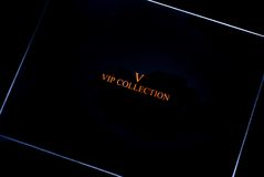 Vip collection box royalty free stock photos