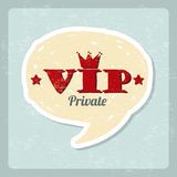 Vip comic icon Royalty Free Stock Photo