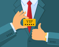 VIP concept. Business man Royalty Free Stock Image