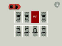 Vip concept, red vip parking lot Stock Image