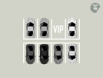 Vip concept, super car parking Stock Photography