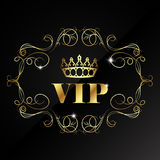Vip with crown and pattern Royalty Free Stock Photos