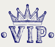 Vip crown symbol Royalty Free Stock Photos