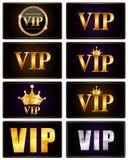 VIP członków karty Ustalona Wektorowa ilustracja Fotografia Royalty Free