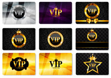VIP członków karty Ustalona Wektorowa ilustracja Obraz Stock