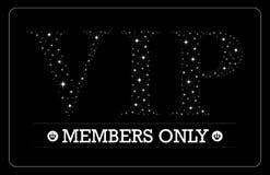 VIP członków tylko karciany projekt Zdjęcia Royalty Free