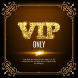 Vip członkowie tylko Vip persons tło Vip klubu sztandaru projekta zaproszenie złoci listy ilustracji