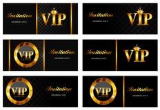 VIP członków karty Ustalona Wektorowa ilustracja Zdjęcie Stock