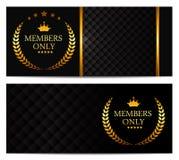 VIP członków karty Ustalona Wektorowa ilustracja Obraz Royalty Free