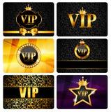 VIP członków karty Ustalona Wektorowa ilustracja Zdjęcie Royalty Free