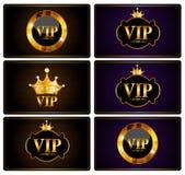 VIP członków karty Ustalona Wektorowa ilustracja Fotografia Stock