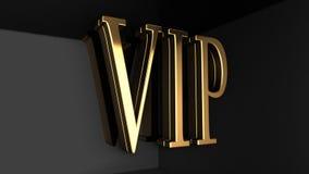VIP 3D Tekst - Zwarte Achtergrond Stock Foto