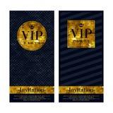 VIP de malplaatjes van het de premieontwerp van uitnodigingskaarten Stock Foto's