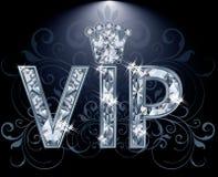 VIP Diamantkaart Stock Afbeelding