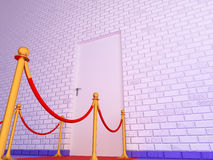 Vip door and old wall Royalty Free Stock Photo