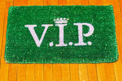 VIP doormat Royalty Free Stock Photo