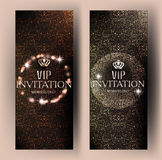 VIP elegant invitation cards with abstract background and abstract background. Stock Photo