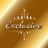 VIP exclusive logo design. luxury concept Royalty Free Stock Image
