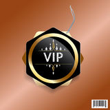 VIP exclusive luxury tag design Stock Photography