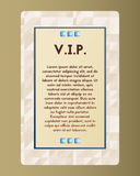 VIP flyer. The card with blue stone . Vector illustration with turquoise. Royalty Free Stock Images