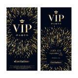 VIP geplaatste de malplaatjes van het de premieontwerp van de uitnodigingskaart Royalty-vrije Stock Foto's